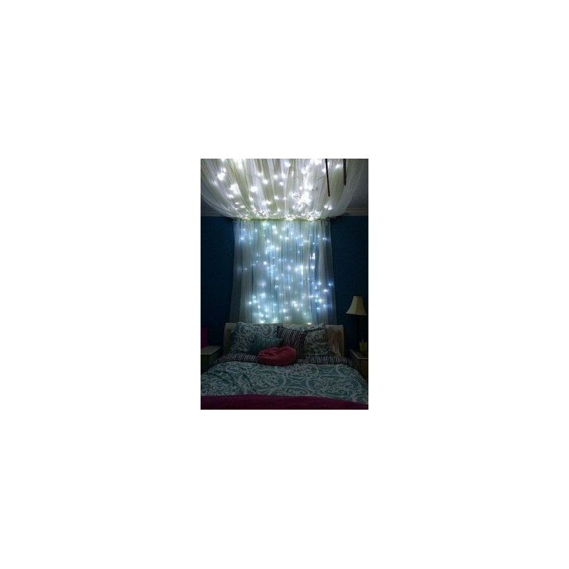 kit ciel toil blanc scintillant g n rateur led 100 fibres optiques. Black Bedroom Furniture Sets. Home Design Ideas