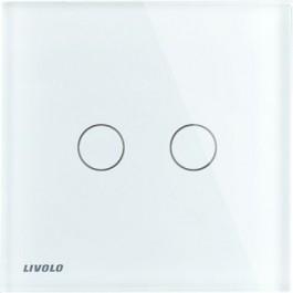 Livolo interrupteur mural tactile 2 voies VL-C702R-11