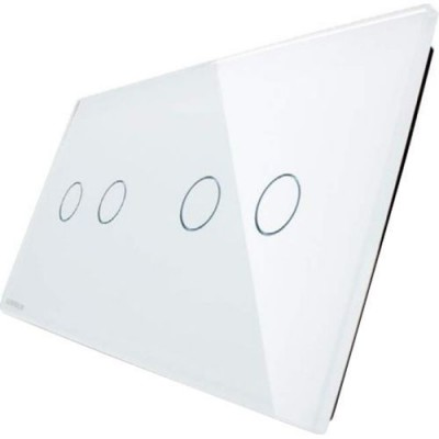 LIVOLO plaque en verre pour interrupteur tactile deux boutons