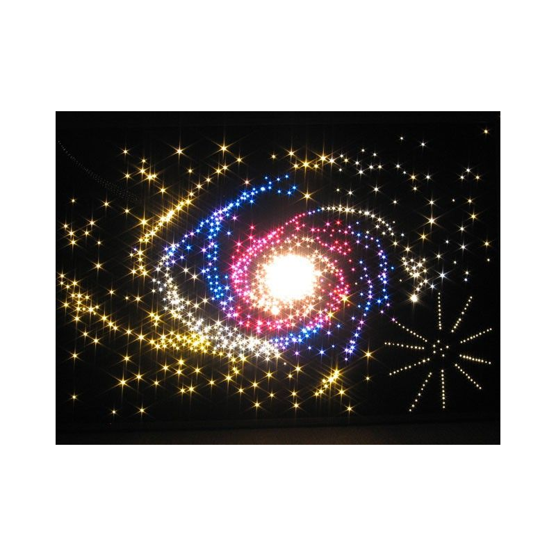 kit ciel toil 250 fibres optiques lumineuses g n rateur led. Black Bedroom Furniture Sets. Home Design Ideas