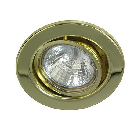 Collerette orientable pour plafond tendu laiton R55056
