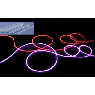 Fibre optique gainée side glow type néon