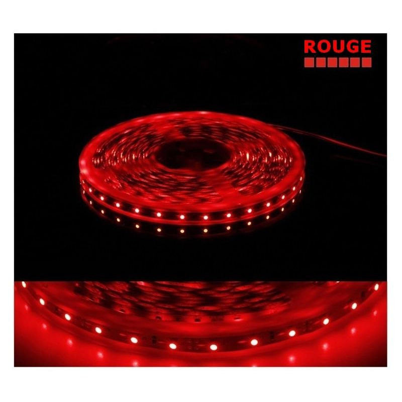 ruban rouge led smd 3528 non tanche achat vente bandeau led rouge. Black Bedroom Furniture Sets. Home Design Ideas
