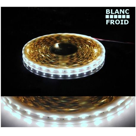 Ruban blanc froid LED SMD 3528 semi étanche