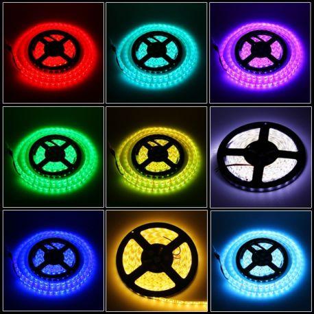 Ruban RGB LED SMD 5050 semi étanche