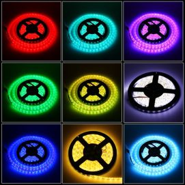 Ruban RGB LED SMD 5050 non étanche