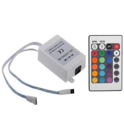 Contrôleur de couleur RGB avec télécommande infra rouge