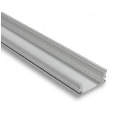Profilé aluminium avec couvercle blanc 2 mètres