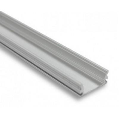Profilé aluminium avec couvercle transparent 2 mètres