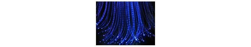 Fibre Optique PMMA Craquelée pour Réalisation de Rideau Lumineux