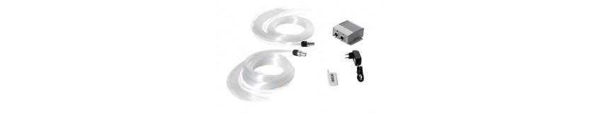 Kit Ciel Étoilé 500-650-800 Fibres Optiques + Générateur de Lumière Led