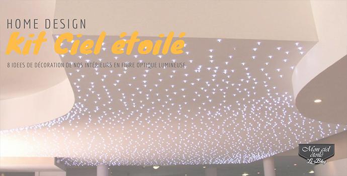 8 façons d'intégrer de la fibre optique lumineuse dans son intérieur